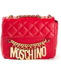 Moschino - Quilted Chain Shoulder Bag - Lyst