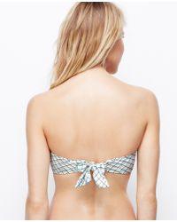 Ann Taylor Criss-cross Bandeau Bikini Top - Blue