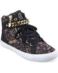 G by Guess Women'S Orvan High Top Chain Sneakers - Lyst
