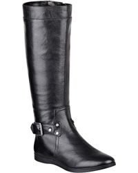 Nine West Truthe Leather Riding Boots - Lyst