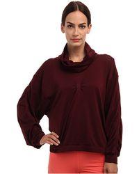 Adidas By Stella Mccartney Purple Yoga Slsweatshirt - Lyst