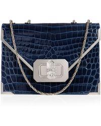 Marchesa - Valentina Crocodile Shoulder Bag - Lyst