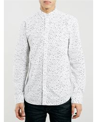 Topman Selected Homme White Shirt - Lyst