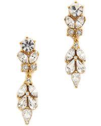 Ben Amun Crystal Teardrop Earrings - Clear - Lyst