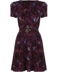 Oasis Shadow Bird Viscose Dress - Lyst