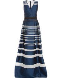 Carolina Herrera Stripe Organza Jacquard Gown - Lyst