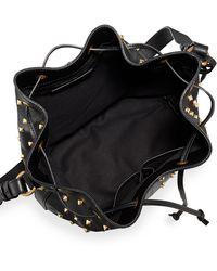 Alexander McQueen Padlock Studded Leather Bucket Bag - Lyst