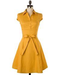 Tropical Wear Soda Fountain Dress In Ginger - Lyst