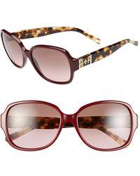 Tory Burch 'P Square' 57Mm Sunglasses - Bordeaux - Lyst