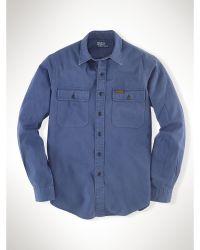 Polo Ralph Lauren Custom Twill Military Shirt - Lyst