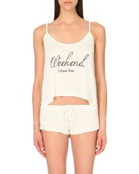 Wildfox - Weekend Lover Pyjama Set - For Women - Lyst