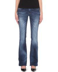 Diesel Louvboot Bootcut Lowrise Jeans Blue - Lyst