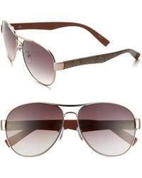 Furla Women'S 60Mm Aviator Sunglasses - Gold/ Pink/ Brown Gradient - Lyst