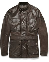 Belstaff Panther Waxed-Leather Jacket - Lyst