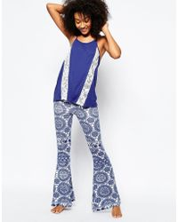 Chelsea Peers - Cami & Print Pyjama Set - Blue - Lyst