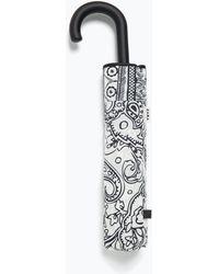 Zara Printed Folding Umbrella - Lyst