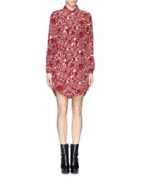 Tory Burch Cora Floral Pleat Shirt Dress - Lyst