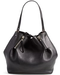 Burberry 'Medium Maidstone' Leather Tote black - Lyst