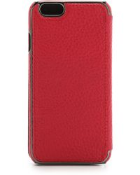 Adopted - Leather Folio Iphone 6 Case - Cayenne/Gunmetal - Lyst