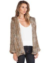 525 America Hooded Rabbit Fur Jacket - Lyst