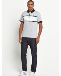 Lacoste Mens Chest Panel Detail Polo - Lyst