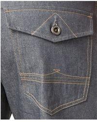 Sean John Men's Hamilton Deco Raw Gray Wash Relaxed Fit Jeans