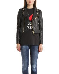 Balmain Stud Leather Jacket - Lyst