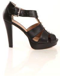 Charlotte Ronson Hayworth Studded Heel - Black