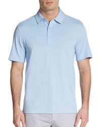 Saks Fifth Avenue Black Label Cotton Pique Polo Shirt - Lyst