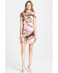Emilio Pucci Flower Power Print Dress - Lyst