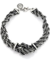 Giles & Brother Heavy Rope Chain Loop Necklace - Lyst