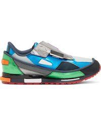 Raf Simons Blue Metallic Adidas Edition Sneakers - Lyst