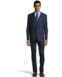 Dolce & Gabbana Midnight Blue Wool 2-Button 'Martini' 3-Piece Suit With Pleated Front Pants blue - Lyst