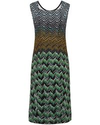 Missoni Peacock Beaded Shift Dress - Lyst