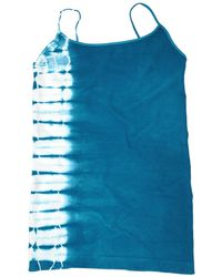 Tees by Tina Side Tie Dye Cami blue - Lyst