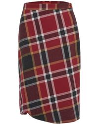 Vivienne Westwood Red Label - Women's Washed Tartan Accident Skirt - Lyst