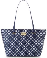 Kenneth Cole Reaction Navy & White Duplicator Pixie Tote - Lyst