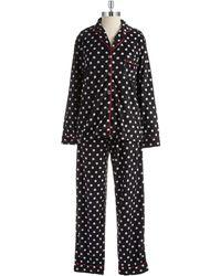 DKNY Two Piece Fleece Sleep Set - Lyst
