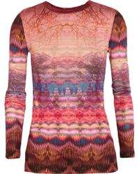 Matthew Williamson Printed Modal Top - Lyst