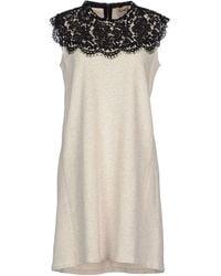 Sea Short Dress gray - Lyst