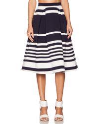 Nicholas Positano Stripe Ball Skirt - Lyst