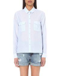 The Kooples Sport - Striped Cotton Shirt - Lyst