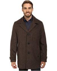 Calvin Klein Wool Blend Twill Car Coat Cm474050 brown - Lyst