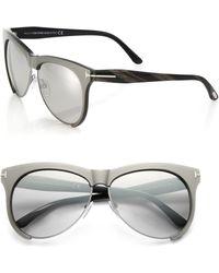 Tom Ford Leona 59Mm Aviator Sunglasses - Lyst