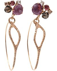 Federica Rettore - Multi-color Sapphire Mobile Earrings - Lyst