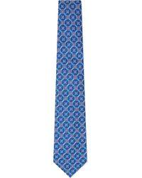 Turnbull & Asser Circle Cluster Silk Tie - Lyst
