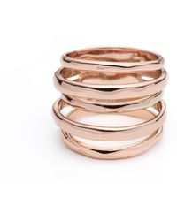 Alexis Bittar Rose Gold Layered Ring - Lyst