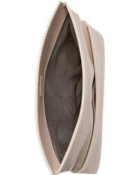 Skagen Denmark Anne-marie Flap Clutch - Natural