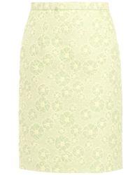Giambattista Valli Floral-Bouclé Skirt - Lyst