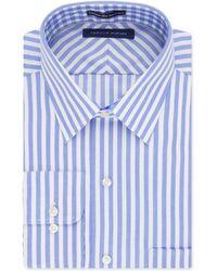 Tommy Hilfiger Non-Iron Blue Bold Stripe Dress Shirt blue - Lyst